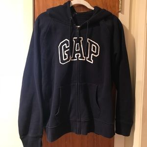 GAP: Navy Blue Zippered Hoody Jacket